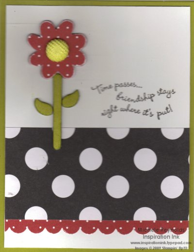 Corduroy kiwi kiss dotted flower watermark