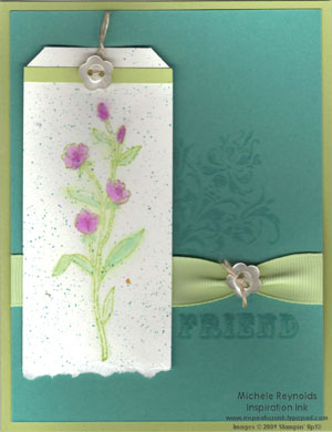 Friends 24-7 watercolor flower tag watermark