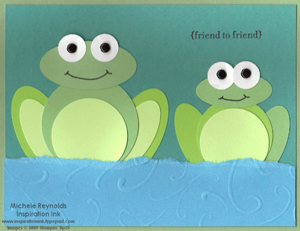 Teeny tiny wishes frog friends watermark