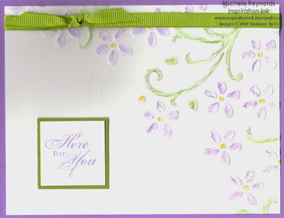 Friends 24-7 embossed flowers watermark