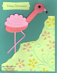 Teeny tiny wishes retirement flamingo watermark