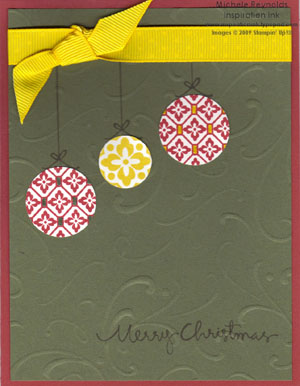 Circle circus hanging ornaments watermark