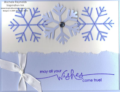 Simple snowflake wishes watermark