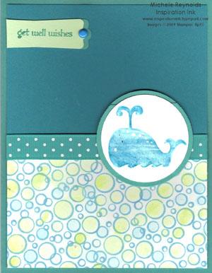 Animal stories watercolor whale watermark