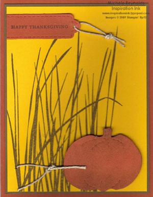 Inspired by nature pumpkin in grass watermark