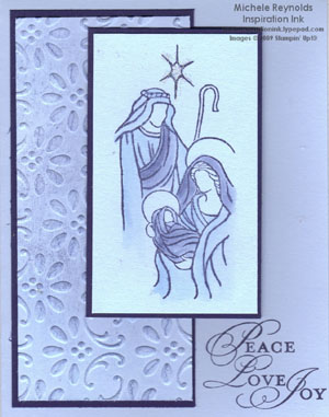 Holy triptych blue nativity watermark