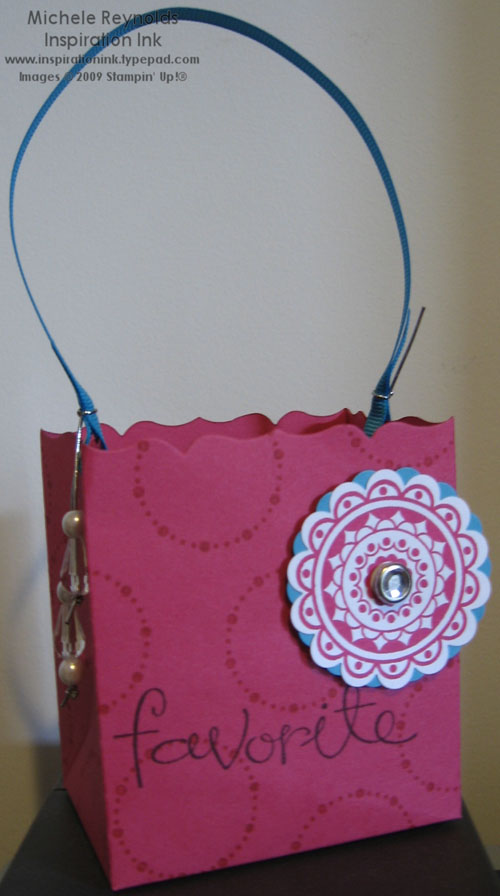 Circle circus fancy favor bag watermark