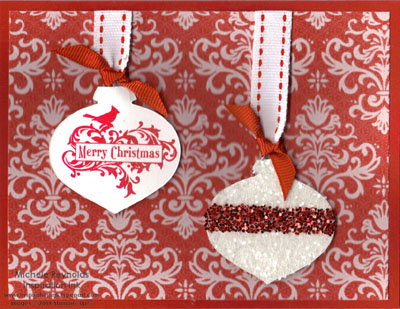 Holiday best glitter ornament watermark