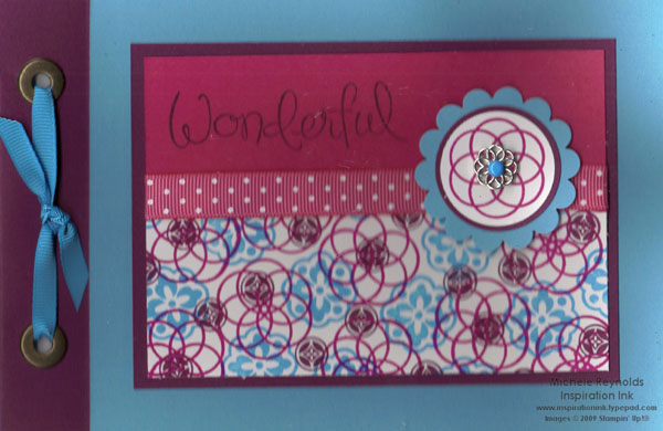 Circle circus clear envelope brag book watermark