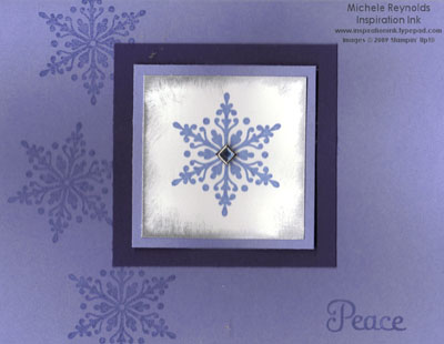 Four the holidays snowflake peace watermark