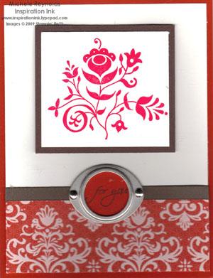 Razzle dazzle red flower swirl watermark