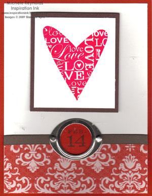 Happy heart flourish valentine watermark