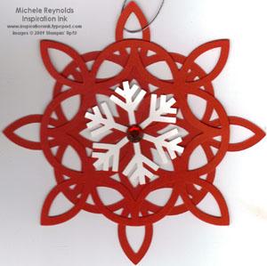 Lattice snowflake ornament watermark