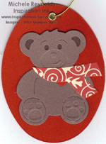 Lil' paws scarf bear ornament watermark