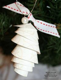Bride specialty paper pine cone ornament watermark