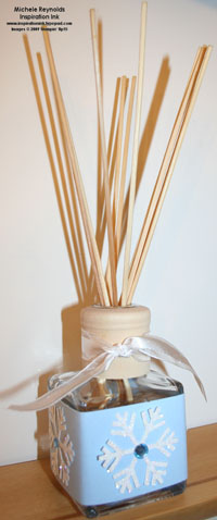 Jumbo snowflake punch reed diffuser watermark