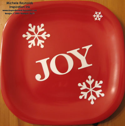 Holiday mix real red joy plate watermark