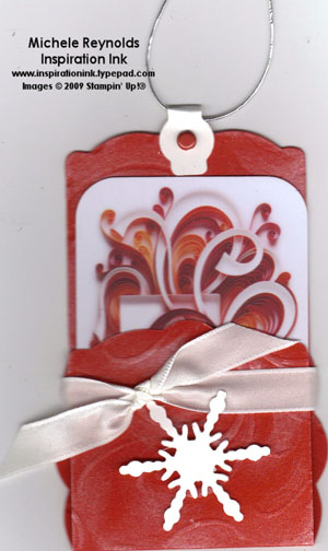 Table setting red gift card holder watermark