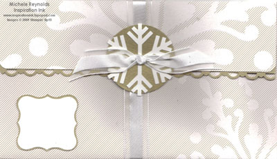 Christmas cocoa specialty paper snowflake envelope watermark
