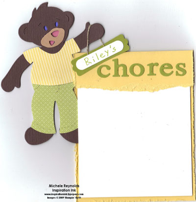 Beary essentials chores chart boy watermark