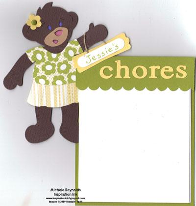 Bear chores chart girl watermark
