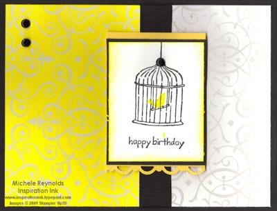 Happy moments yellow bird birthday watermark