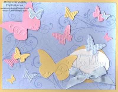 Well scripted glittery butterflies watermark