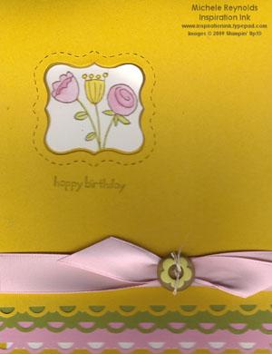 Happy moments flower window watermark