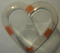 Heart treat cup with sticky strip