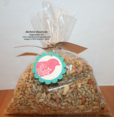Bird seed bag watermark
