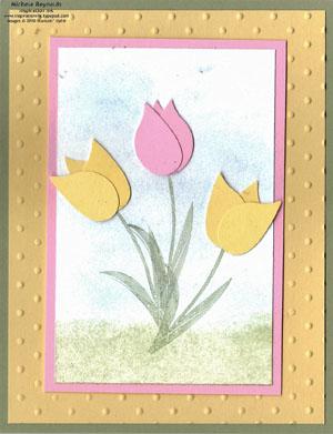Garden whimsy tulip easel watermark
