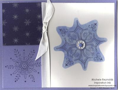 Serene snowflakes masked blocks sized