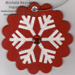 Lots of letters snowflake ornament watermark