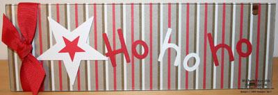 Holiday mix real red ho ho ho frame watermark