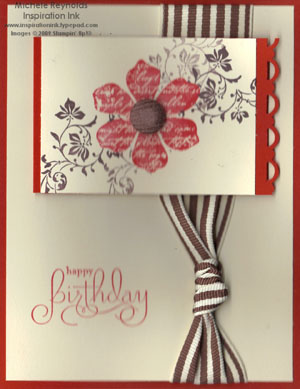 Well scripted birthday flower watermark