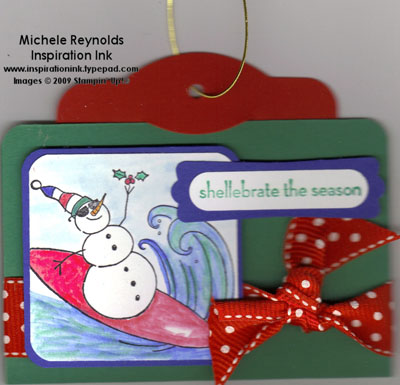 Two tags gift card holder watermark