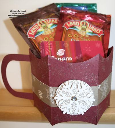 Serene snowflakes pillow box mug watermark