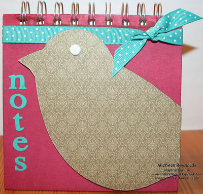 Bird notes book watermark