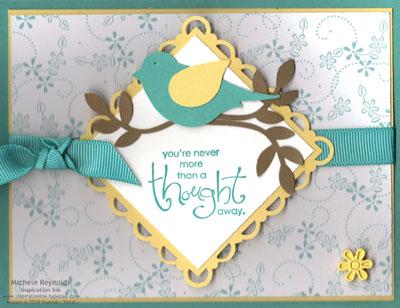 Whimsical words bermuda bird watermark