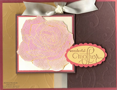 Fifth avenue floral embossed shimmer rose watermark