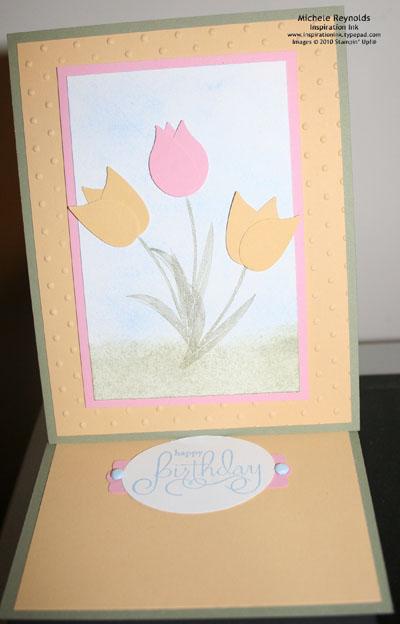 Garden whimsy tulip easel open watermark