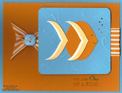 One of a kind ornament fish watermark