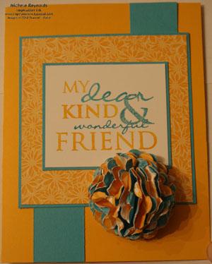 All holidays dear friend scrunchie flower watermark