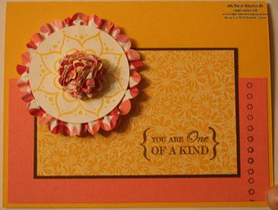 One of a kind scrunchie flower watermark