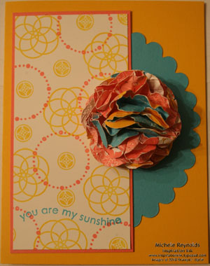 Circle circus scrunchie flower watermark