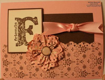 Vintage vogue sending love border punch flower watermark