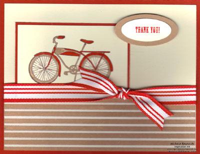 Pedaling past red bike thanks watermark