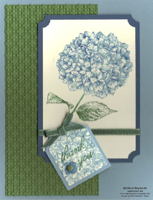 Because i care hydrangea tag watermark