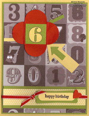 Teeny tiny wishes 6 petal card watermark