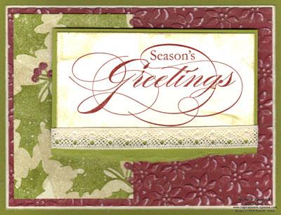 Peaceful season antique greetings watermark